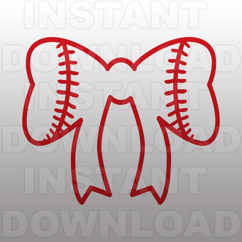 Bows clipart softball. Bow svg file cutting