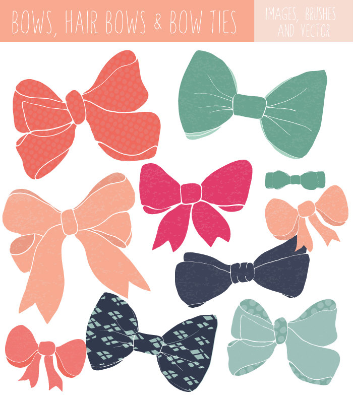 Bow Clip Art Bow Tie Clip Art Bow Vector File and Photoshop