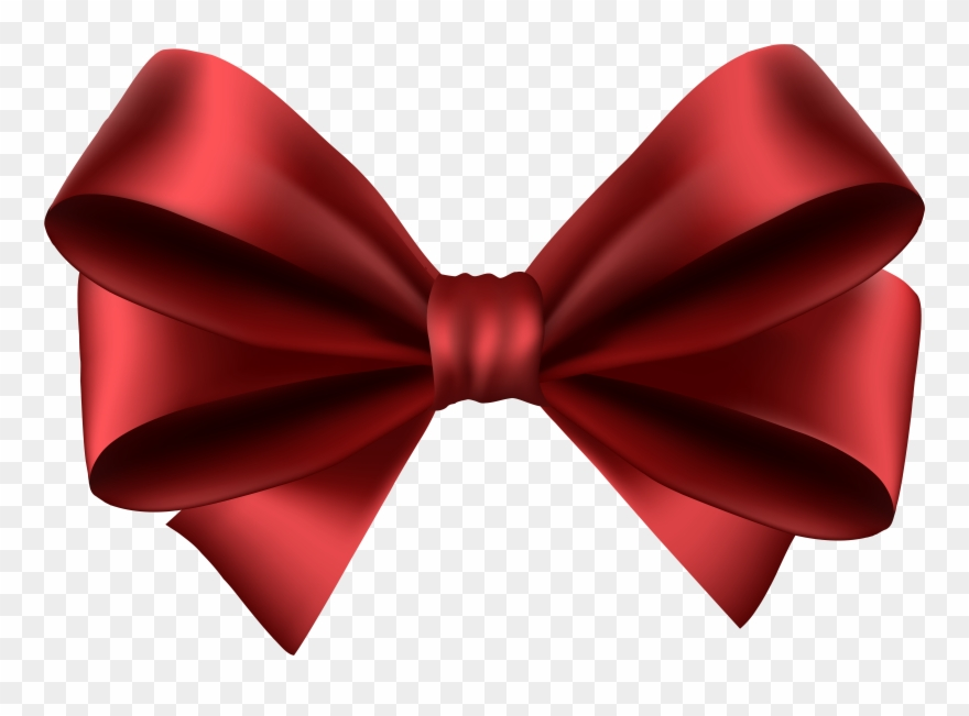 Bows clipart transparent background. Red bow pinclipart