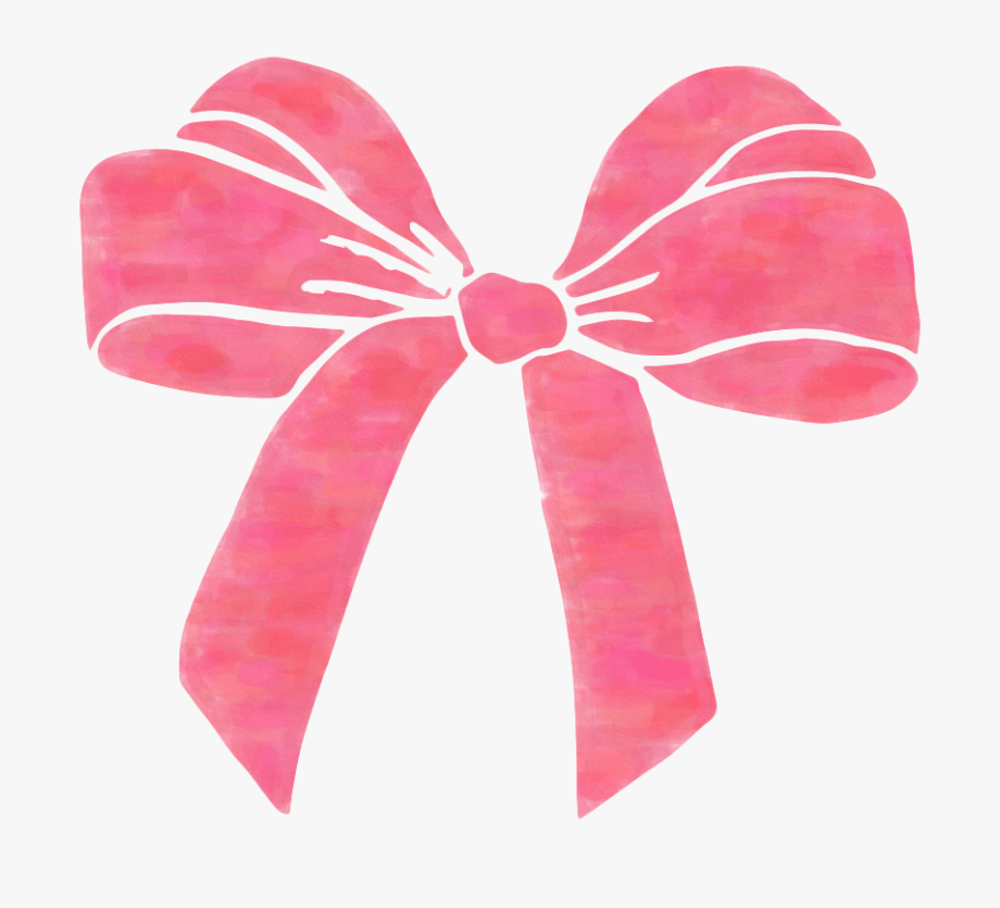 Pink bow free hair. Bows clipart transparent background