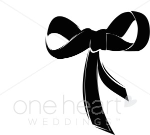 Fancy bow. Bows clipart wedding