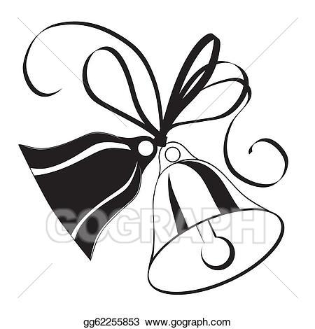 Vector stock bell sketch. Bow clipart wedding