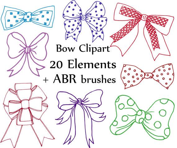 Bows clip art doodle. Bow clipart wedding