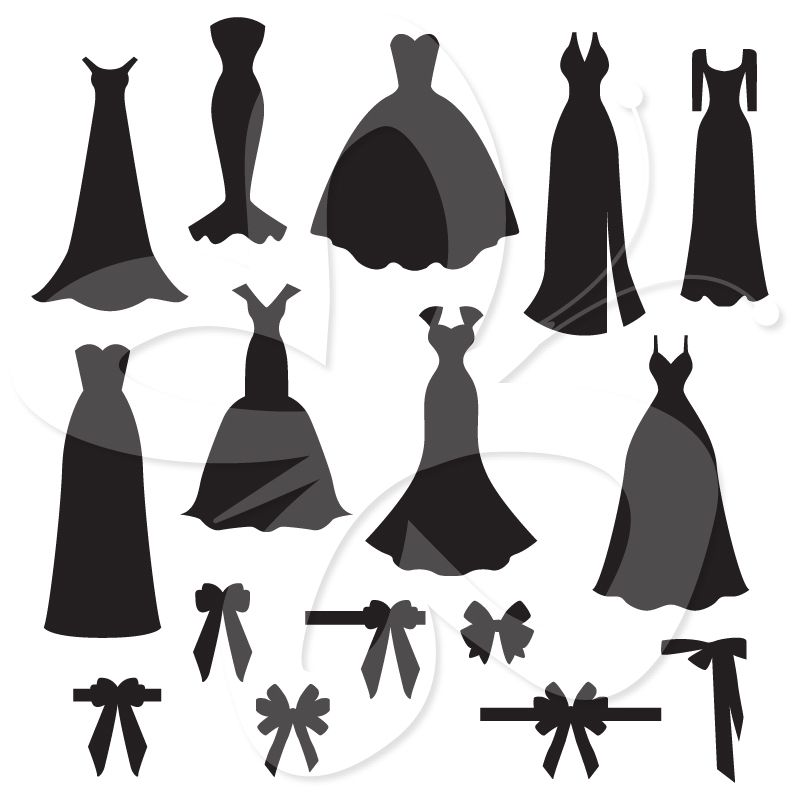 Bow clipart wedding. This sophisticated silhouette dress