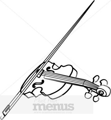 Violin clip art . Bow clipart wedding