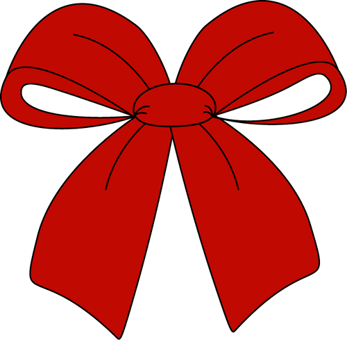 Bows clipart xmas. Red christmas bow clip