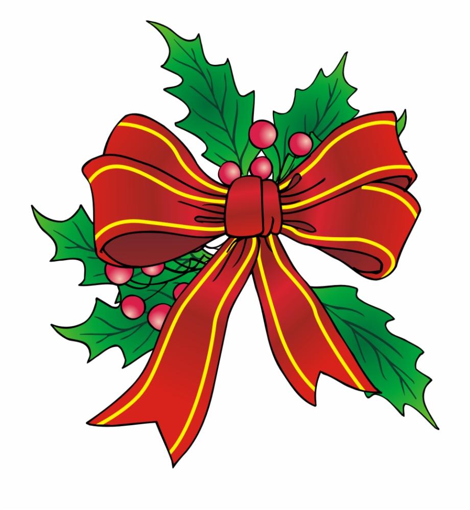 Free christmas ribbon clip. Bows clipart xmas