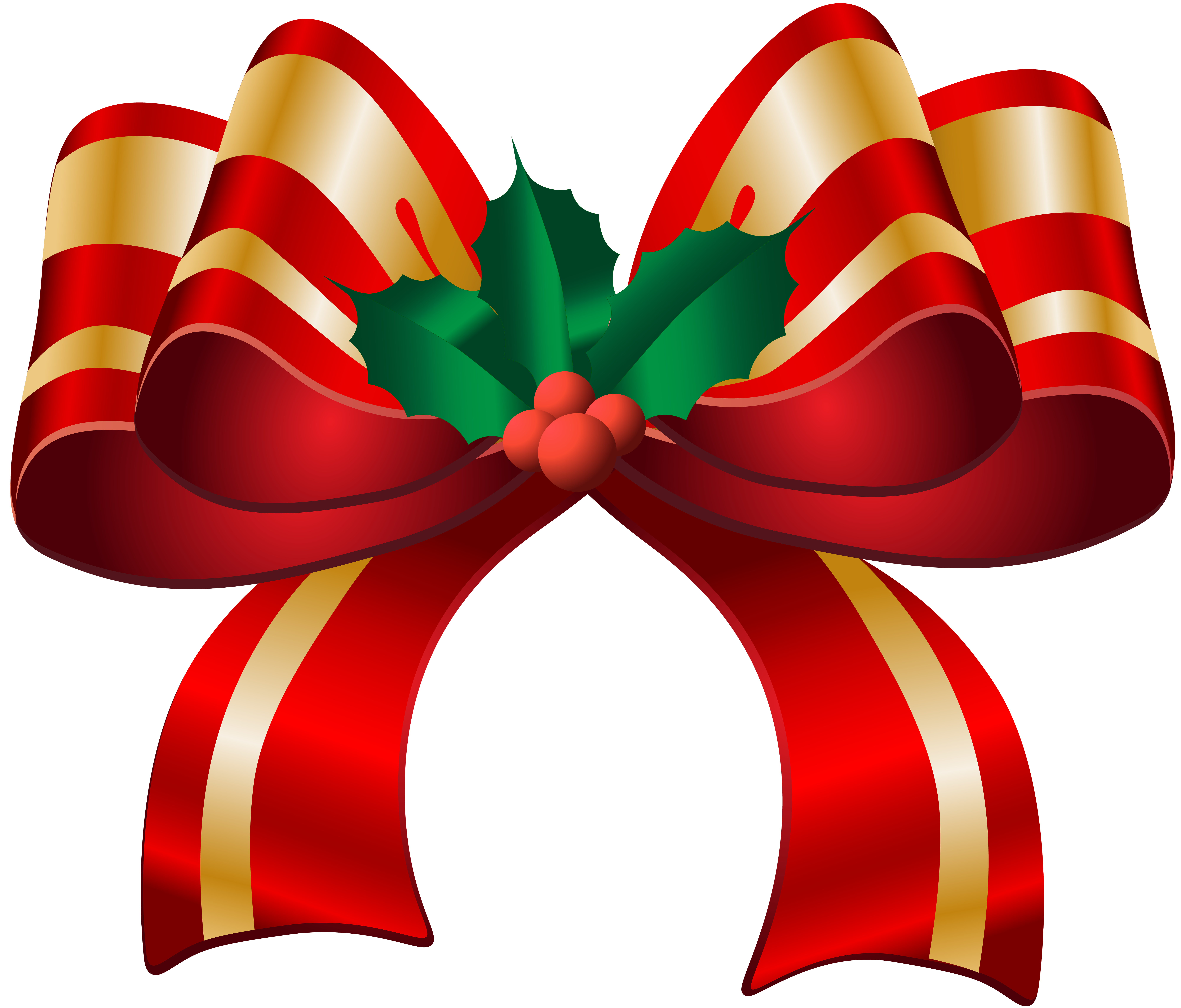 Christmas red bow transparent. Bows clipart xmas