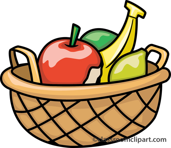 Bowl basket pencil and. Bucket clipart fruit