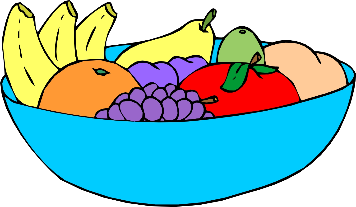 Fruit clipart fruit plate.  collection of bowl