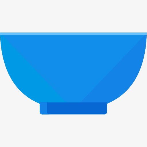 Bowl clipart blue bowl. Rice cartoon png image