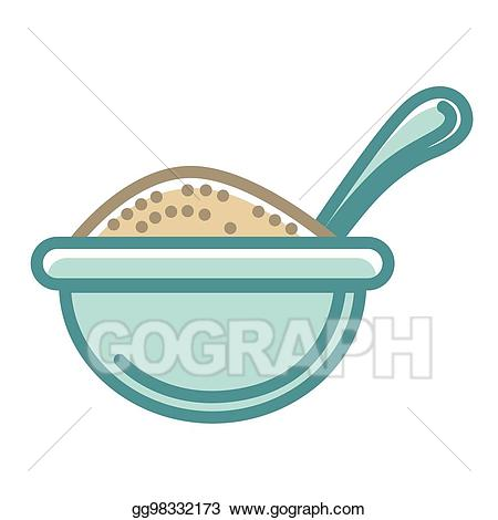 Vector big of healthy. Bowl clipart blue bowl