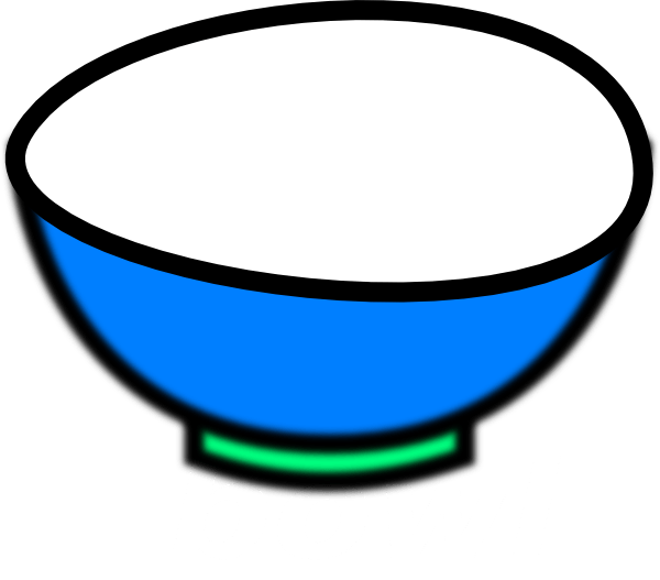 Cliparts zone . Bowl clipart blue bowl