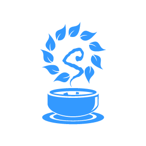 Bowl clipart blue bowl. Flower herbal soup and