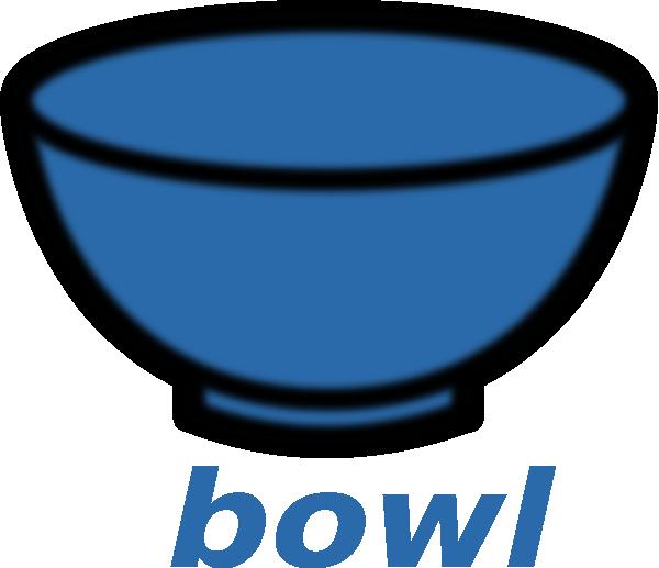 Bowl clipart blue bowl. Clip art at clker