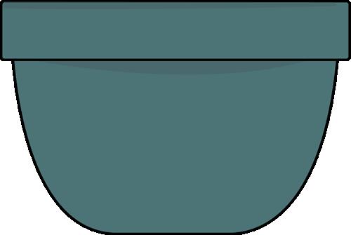 Clip art image. Bowl clipart blue bowl