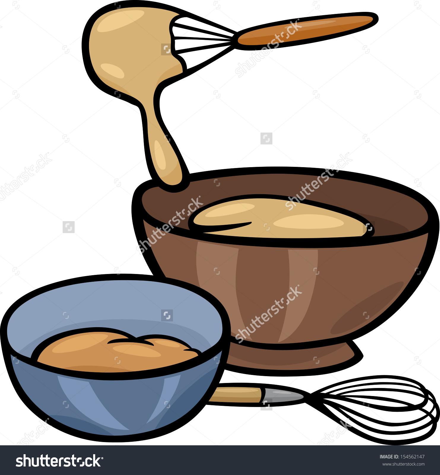 Food spoon black and. Bowl clipart cartoon