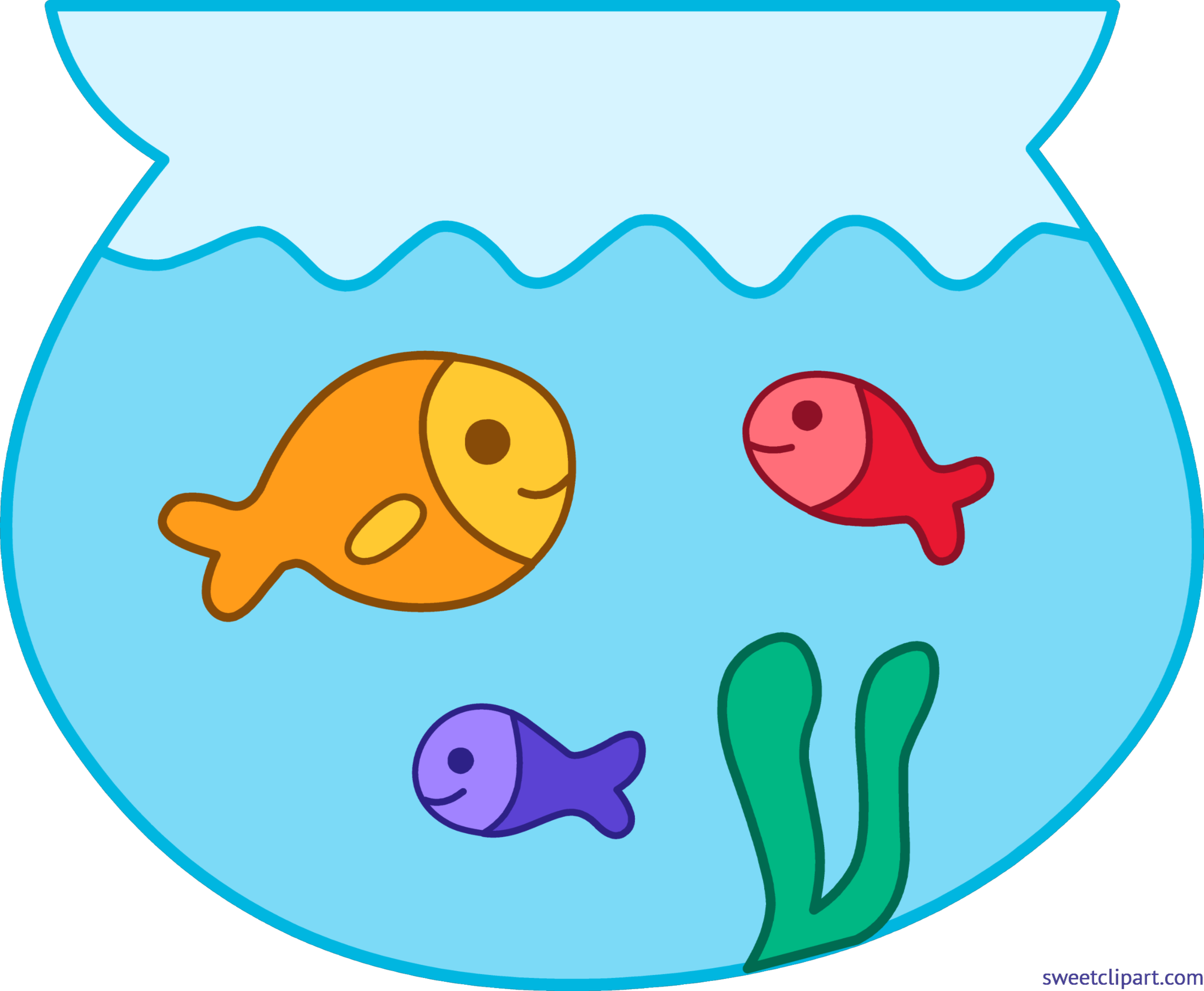 Fishing clipart bowl. Fishbowl fishes cute clip