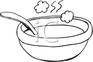 Soup clipart outline. Fish bowl clip art