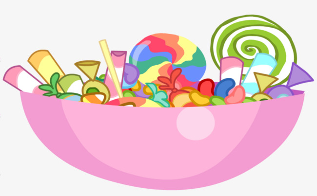 Bowl clipart pink. A of candy graphic