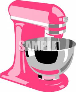 Image a mixer with. Bowl clipart pink