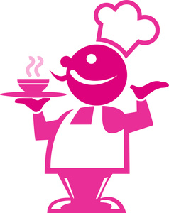 Free chef image people. Bowl clipart pink