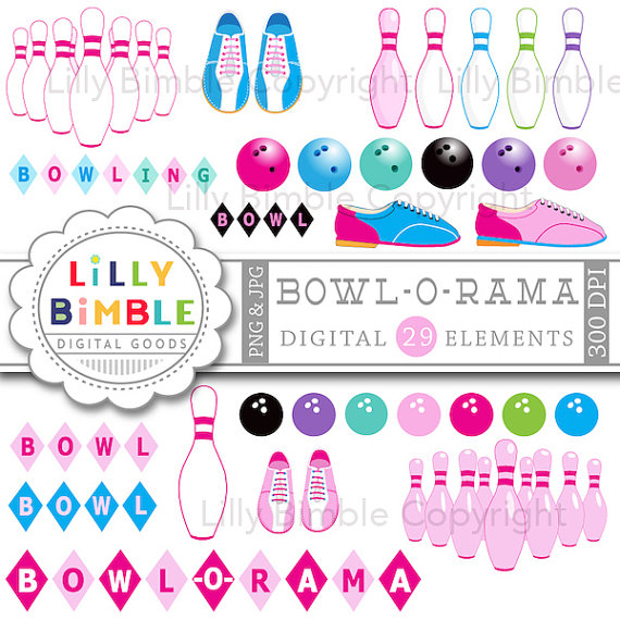 Images in including pins. Bowling clipart pink