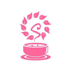 Flower herbal soup and. Bowl clipart pink