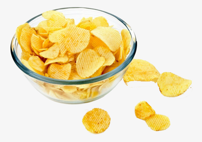 Chips clipart bowl chip. Potato in a glass