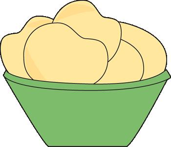 Bowl of potato clip. Chips clipart chipsclip