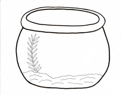 Fishbowl clipart empty fish tank. Printable bowl template drawing