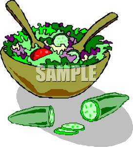 Bowl clipart salad bowl. Picture a sliced cucumber