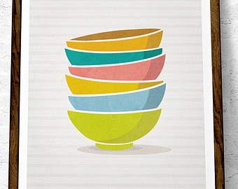 Inspiring prints designed by. Bowl clipart stack bowl