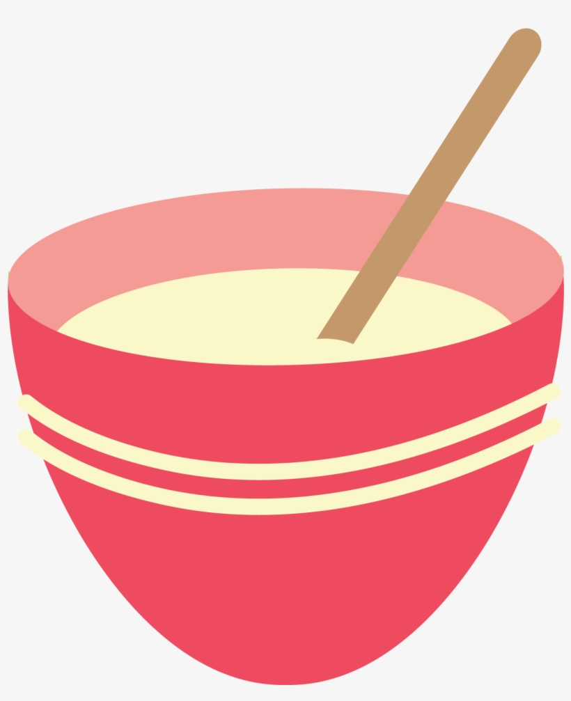 Soup mixing pink png. Bowl clipart stack bowl