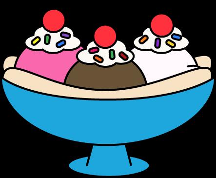 Pictures of ice cream. Bowl clipart sundae