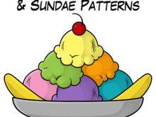 Free ice cream scoops. Bowl clipart sundae