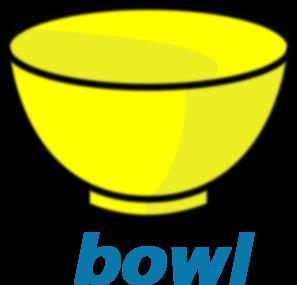 Bowl clipart yellow bowl. Clip art at clker
