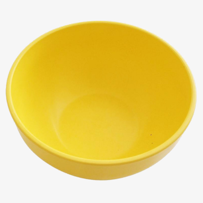 Plastic with empty face. Bowl clipart yellow bowl