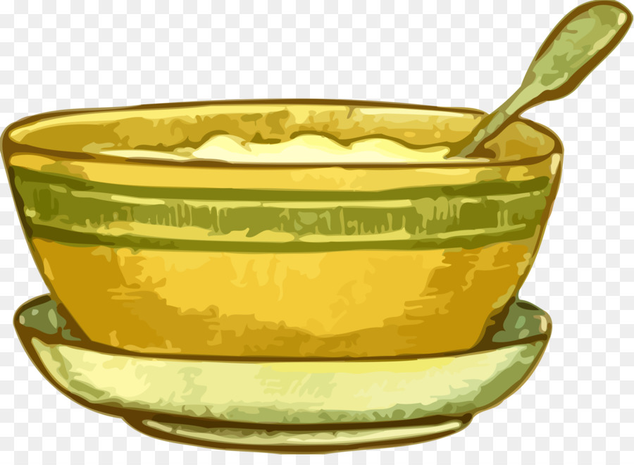 Bowl clipart yellow bowl. Porridge ahi clip art