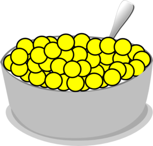 Bowl of yellow clip. Cereal clipart transparent background