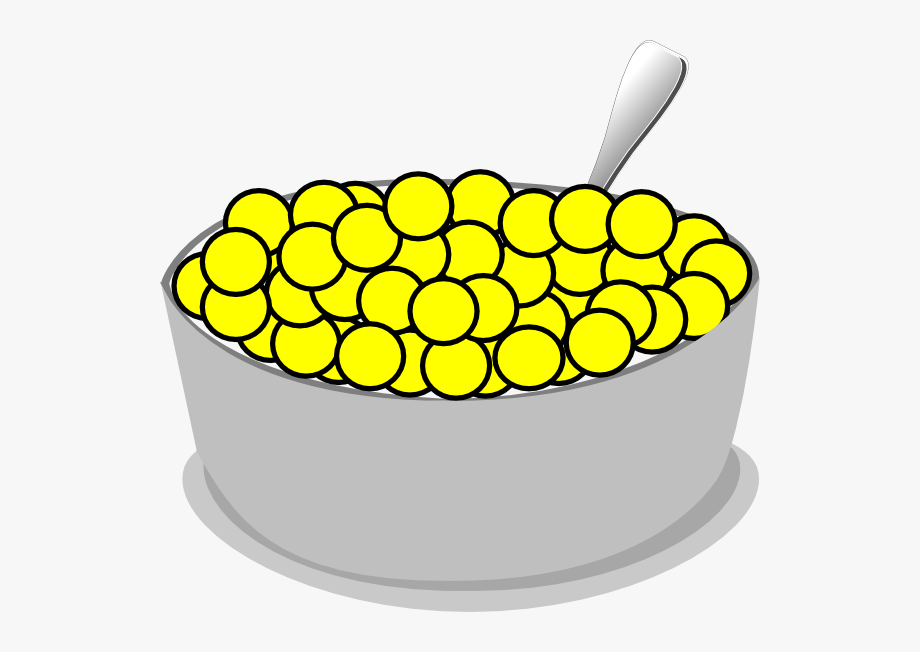 Cereal clipart bowl cereal. Of yellow clip art