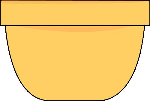 Clip art image. Bowl clipart yellow bowl