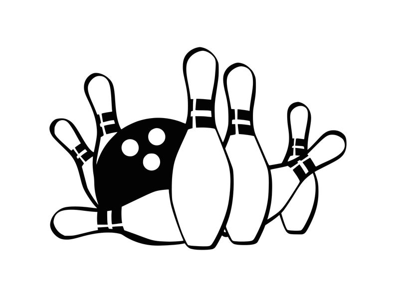 Bowling clipart. Svg ball cut file
