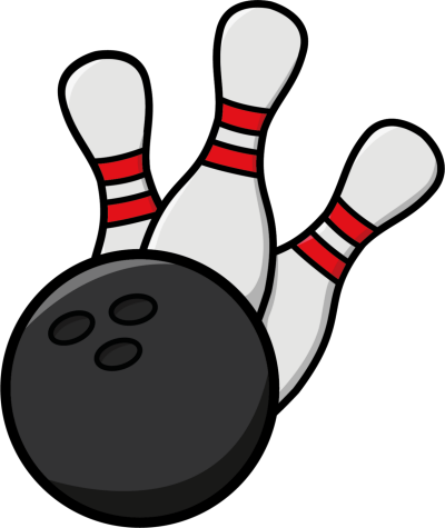 Transparent pencil art or. Bowling clipart