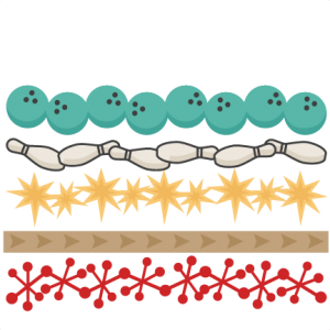 collection of border. Bowling clipart banner