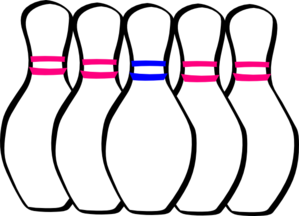 Bowling clipart banner. Girls pin