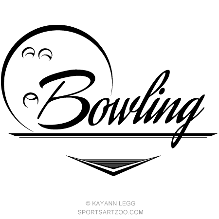 Bowling clipart banner. Sportsartzoo