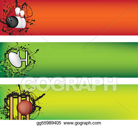 Stock illustration rugby and. Bowling clipart banner