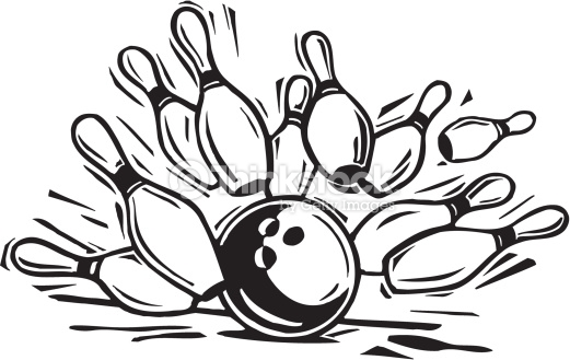Bowling clipart black and white. Pin drawing at getdrawings
