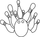 Pin panda free images. Bowling clipart black and white